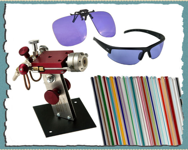 ACE ClipOn PCO (Universalgrösse),  ACE Brille PolyCarbonat , Nortel Red Rocket, 24Farben Filigrana-Set